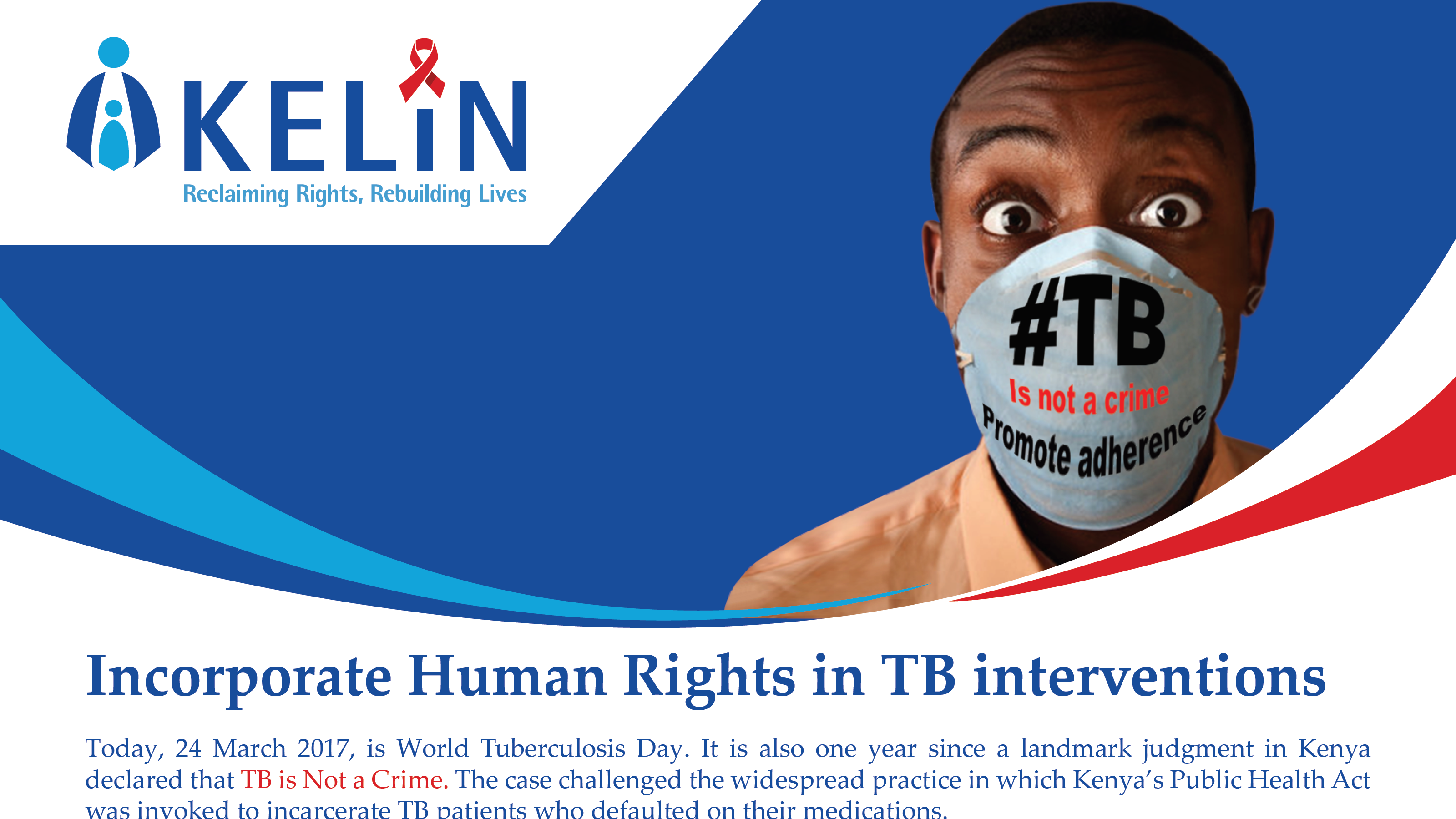 KELIN Calls for Incorporation of Human Rights in TB interventions